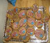 Charlies July 4th Cookies