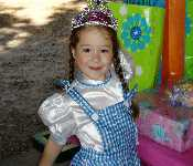 Kayleigh At Her B Day Party 2007 Dressed Up Like Dorthy From The Wizard Of Oz