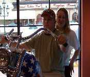 Billy And Sis On Motorcycle 2007