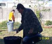 Dad And Dave BBQing On Christmas