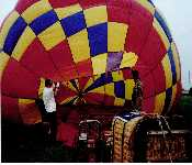 Dad Getting Ready For Ballon Ride