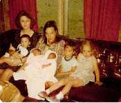 Evelyen And Mom With Kids 1980