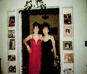 Katheryn And Marlene With Prom Dresses
