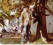 Larry With First Hog Ever Killed Nove. 1977 Killed In Indian Village North Of Jennings