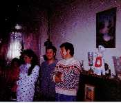 Larry, Jasen, Tracy, And Katlyn Dec. 1993
