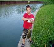 Zach Catching A Turtle